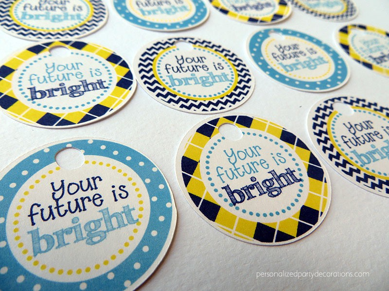 Graduation Party Favor Tags or Stickers