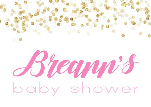 Pink and Gold Baby Shower Sign