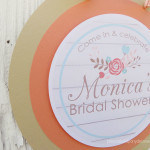 rustic country bridal shower welcome sign