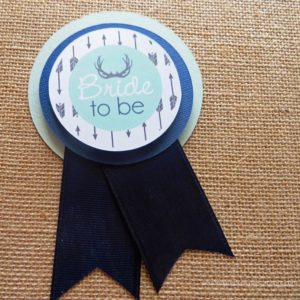 antler future mrs to be bridal shower pin