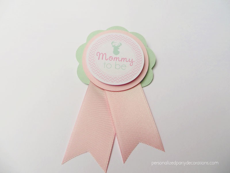 Girl Deer Baby Shower Mom To Be Pin