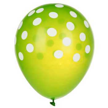 green-polka-dot-balloon