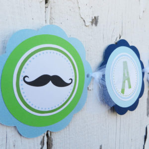 Mustache Theme It's A Boy Banner