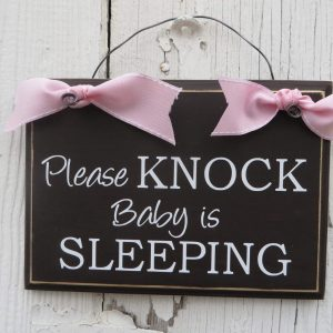 Please Knock Baby Is Sleeping Door Hanger