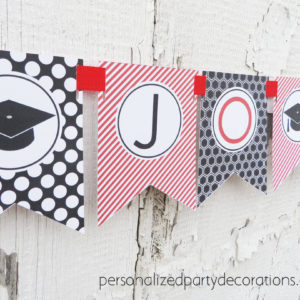 graduation party name banner for male