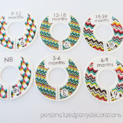 chevron baby clothes dividers