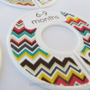 chevron baby clothes dividers 5