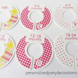 girl plaid baby clothes dividers