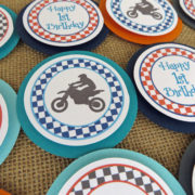 dirt bike birthday party cupcake toppers