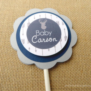 arrow baby shower cake topper
