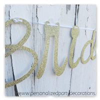 Gold Glitter Banners - Bridal Shower