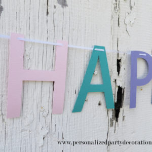 birthday party banner for girls