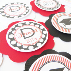 graduation theme cupcake toppers